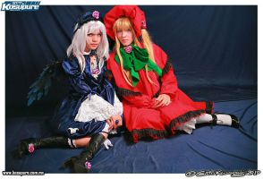 Suigintou and Shinku by cerezosdecamus