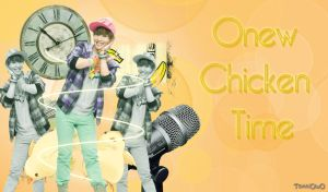 Onew Chiken Time Wallpaper by TokkiOwO