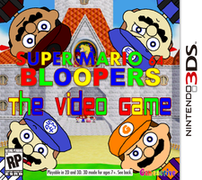Super Mario 64 Bloopers: The Video Game (Boxart) by GMaker-Mario
