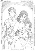 Superman and Wonder Woman by ricardomendes