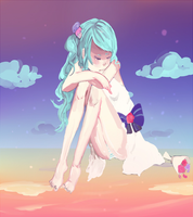The end of the teardrop-Hatsune Miku by miyakoyama
