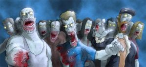 Lots of Zombies... by GriftersArt