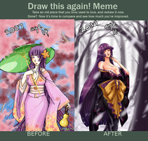 before and after meme by shikami
