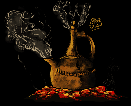 Copper Teapot by copperdragons