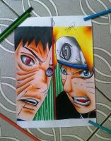 TOBI VS NARUTO by powre