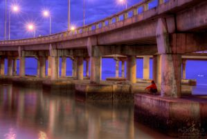 Sunrise of Penang bridge - Fishing by fighteden