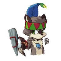 Native American Raccoon 2 by aun61