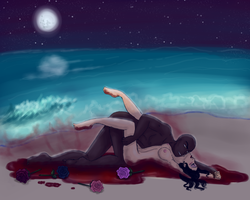 Blood and Rose Petals by CelestialRainfall