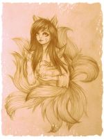 .:LoL:. Ahri by Majkarogo