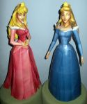 Princess Aurora Pink and Blue Papercraft +Downlaod by Sabi996