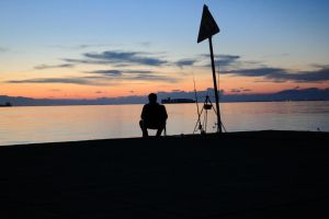 Fishing near Thessaloniki Concert Hall by Fortisinprocella