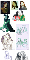 Thor: The dark world sketchdump by raels