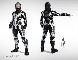 Space biosuit concept by Tarakanovich