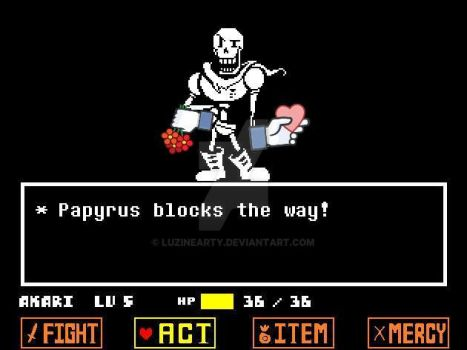 Papyrus :* by LuzineArty