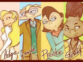 Hey Arnold Gang by duofan