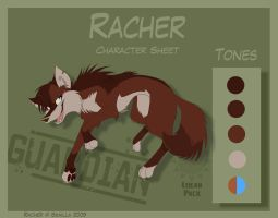 Racher - Character Sheet by Skailla