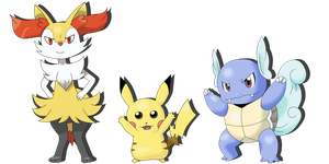 Pokemon X - team by TheLittleNymph