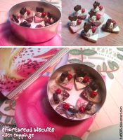 Miniature: Shortbread biscuits with toppings by fiat500S