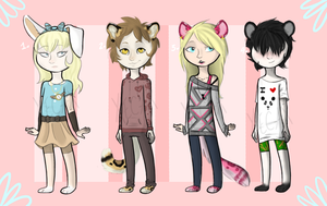 Kemonomimi Set 1 [AUCTION] [CLOSED] by Xecax