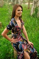 Laura - floral print seated 1 by wildplaces