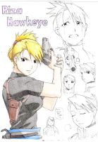 Riza Hawkeye-Colored by Hinata-Chan01