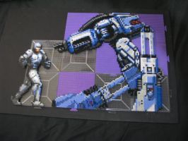ROBOCOP ED 209 Bead Sprite WIP by Buck-Chow-Simmons