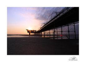 Southport Pier 6 - With border and sig by Paul-Madden
