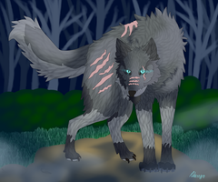 Commission for xXDelilah-the-wolfXx by AderynTheArtist