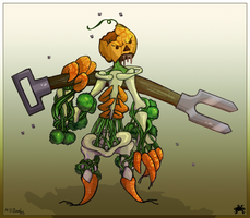 Vegetable Zombie by Cique