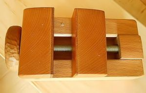 ShopMade Carving Vise Top View by cocobolo