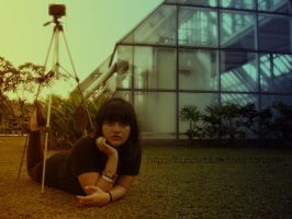 Indah and her holga by thunderblue
