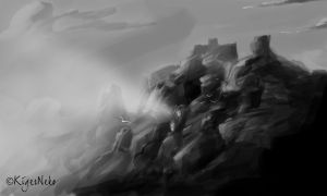 Surreal Landscape Speedpainting by KigerClouds