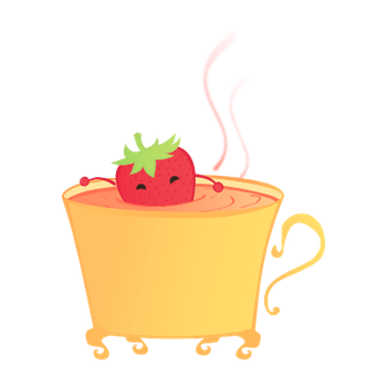 Strawberry Tea Logo Vs.1 by Luna-18