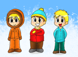 Kenny Cartman Butters by Candy-Swirl