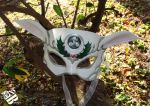 White Doe Leather Mask by b3designsllc