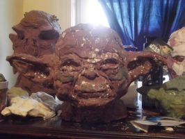 Yoda Silicone Mask 2 by Darth-Gojum