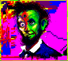 Electric Abe Lincolin Zombie by TOMMYtheSQUID