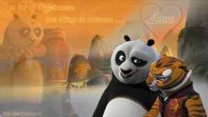 Po and Tigress - The togetherness by LIL-Humphrey