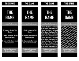 The Game Bookmarks by xNarc0tic