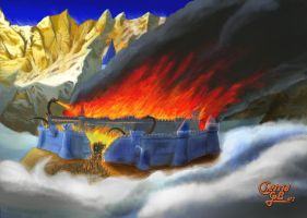Gondolin Fall by ChemaIllustration