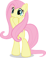 MLP FiM: Excited Fluttershy by Hoodie-Stalker