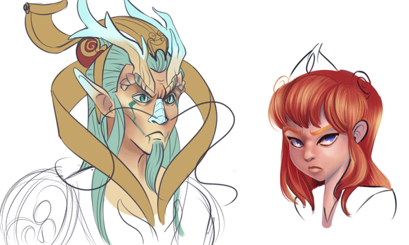 smite tooney sketches... by Daughter-of-Fantasy