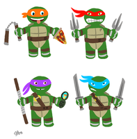 Teenage Mutant Ninja Turtles 'fun icons' by scootah91
