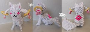 3D Origami - Kyubey by Jobe3DO