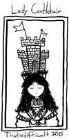 A Doodle: Lady Castlehair by Thatisdifficult