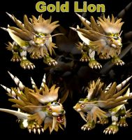 Spore gold lion by cicakkia
