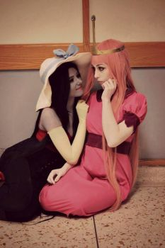 Marceline and Princess Bubblegum by Emmaliene