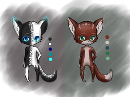Fox Anthro Adoptables (CLOSED) by Yourtoast