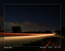 Light Trails Under the Stars by PhotographyByIsh