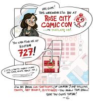 Rose City Comic Con 2013! by shoomlah